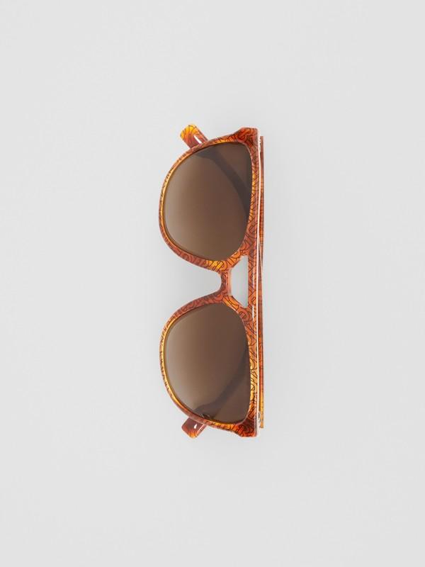 Navigator Sunglasses in Tortoiseshell Amber - Men | Burberry - cell image 3