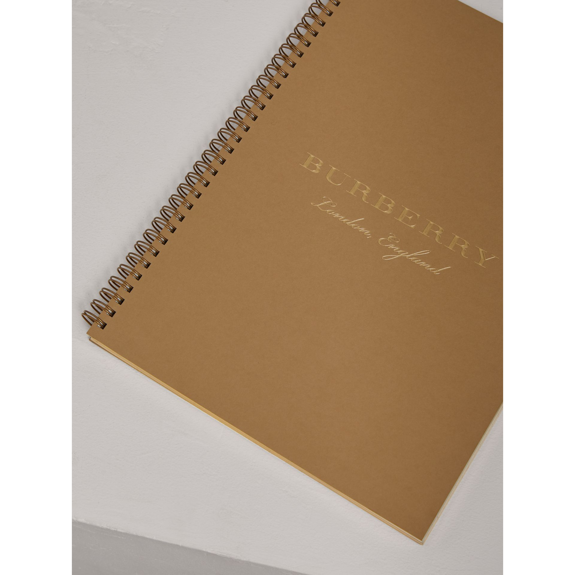 A4 Notebook Refill in Honey | Burberry United Kingdom - gallery image 2