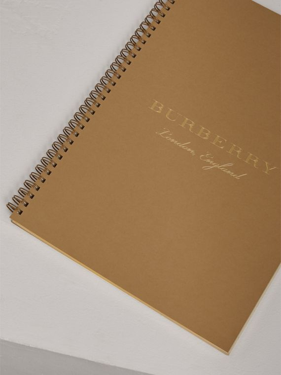A4 Notebook Refill in Honey | Burberry United Kingdom - cell image 2