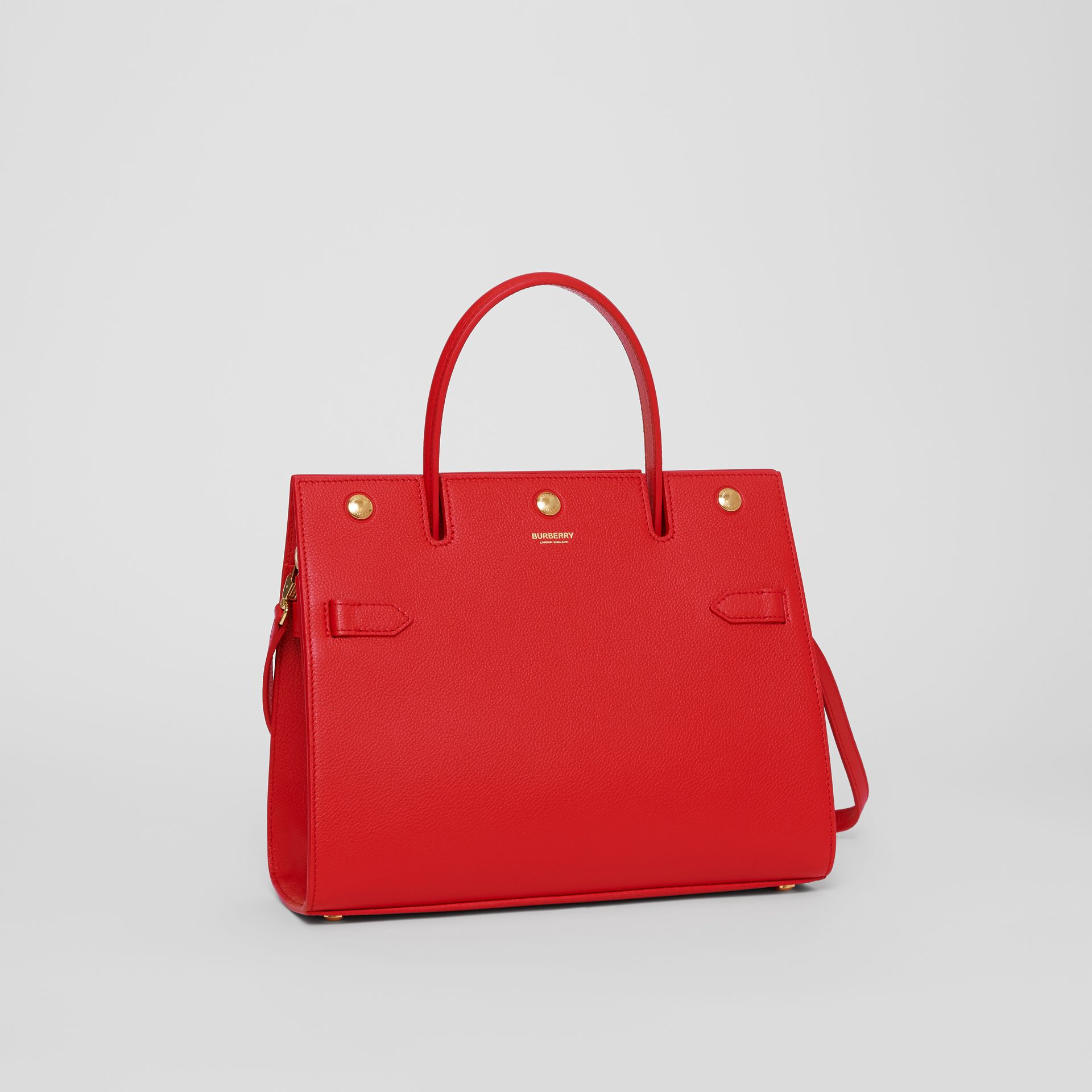 Small Leather Title Bag in Bright Red - Women | Burberry - gallery image 4