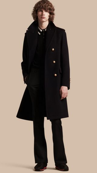 Technical Wool Military Overcoat