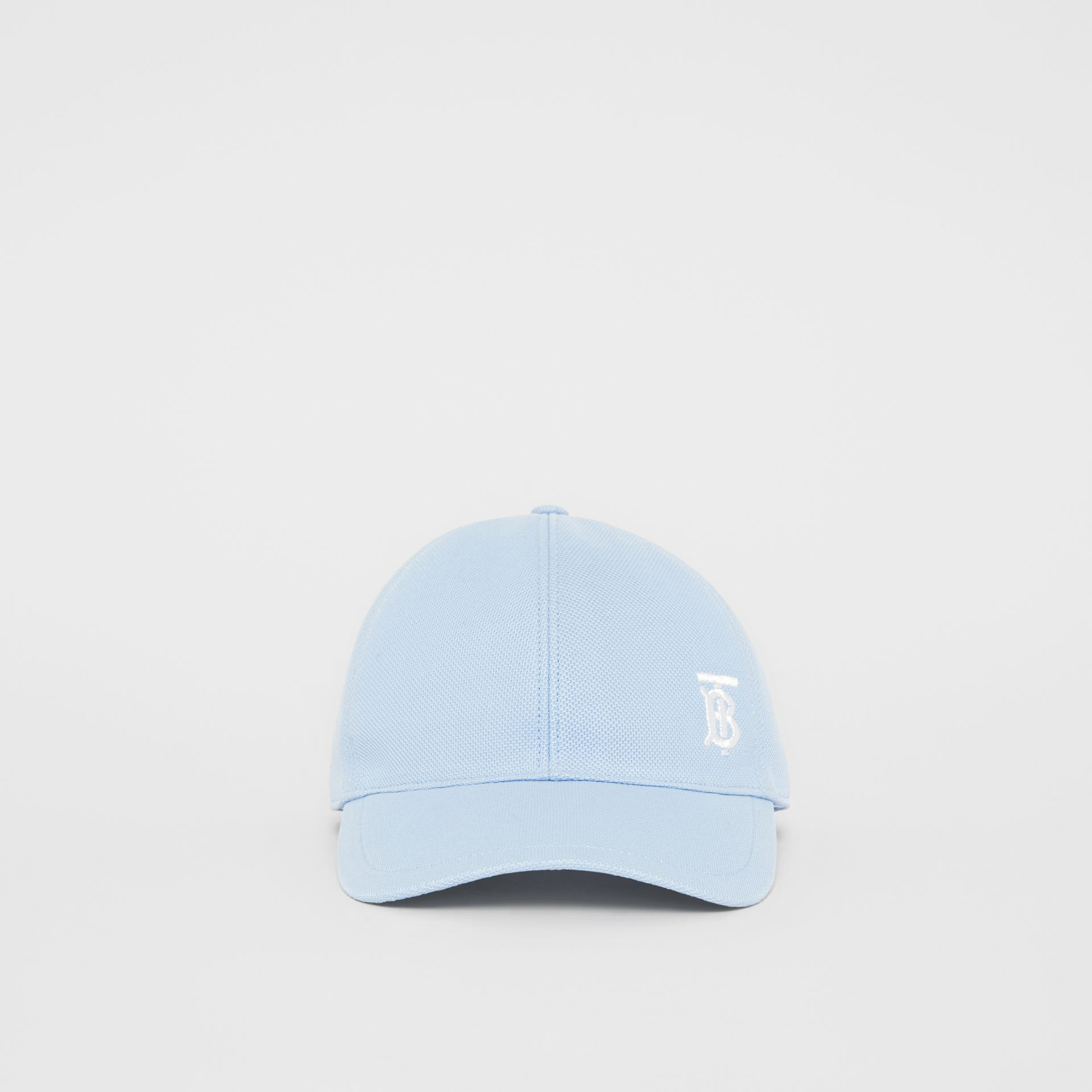 Monogram Motif Baseball Cap in Pale Blue | Burberry - gallery image 3