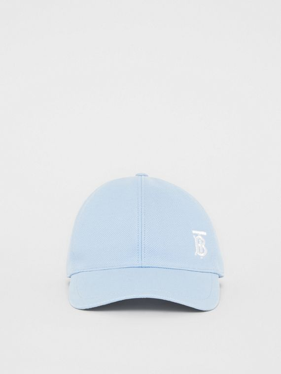 Monogram Motif Baseball Cap in Pale Blue