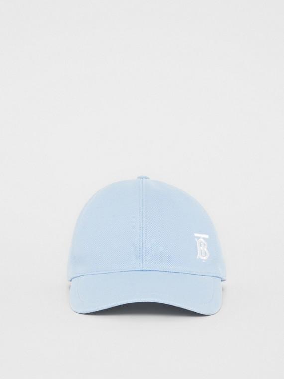 모노그램 모티프 야구 모자 (페일 블루)