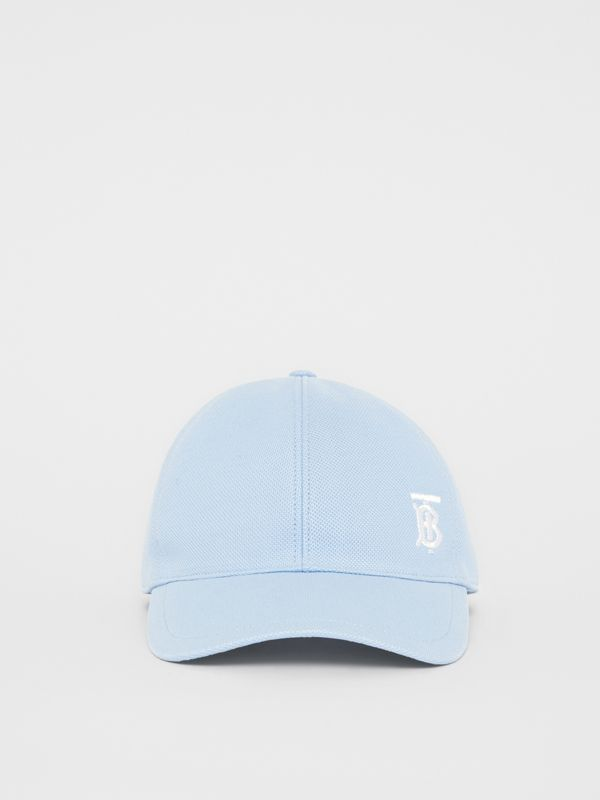 Monogram Motif Baseball Cap in Pale Blue | Burberry - cell image 3