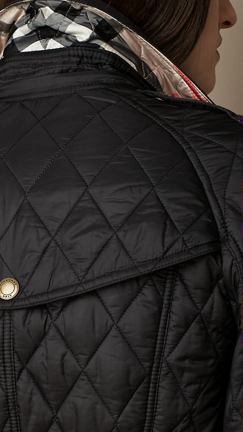 Black Diamond Quilted Coat - Image 3