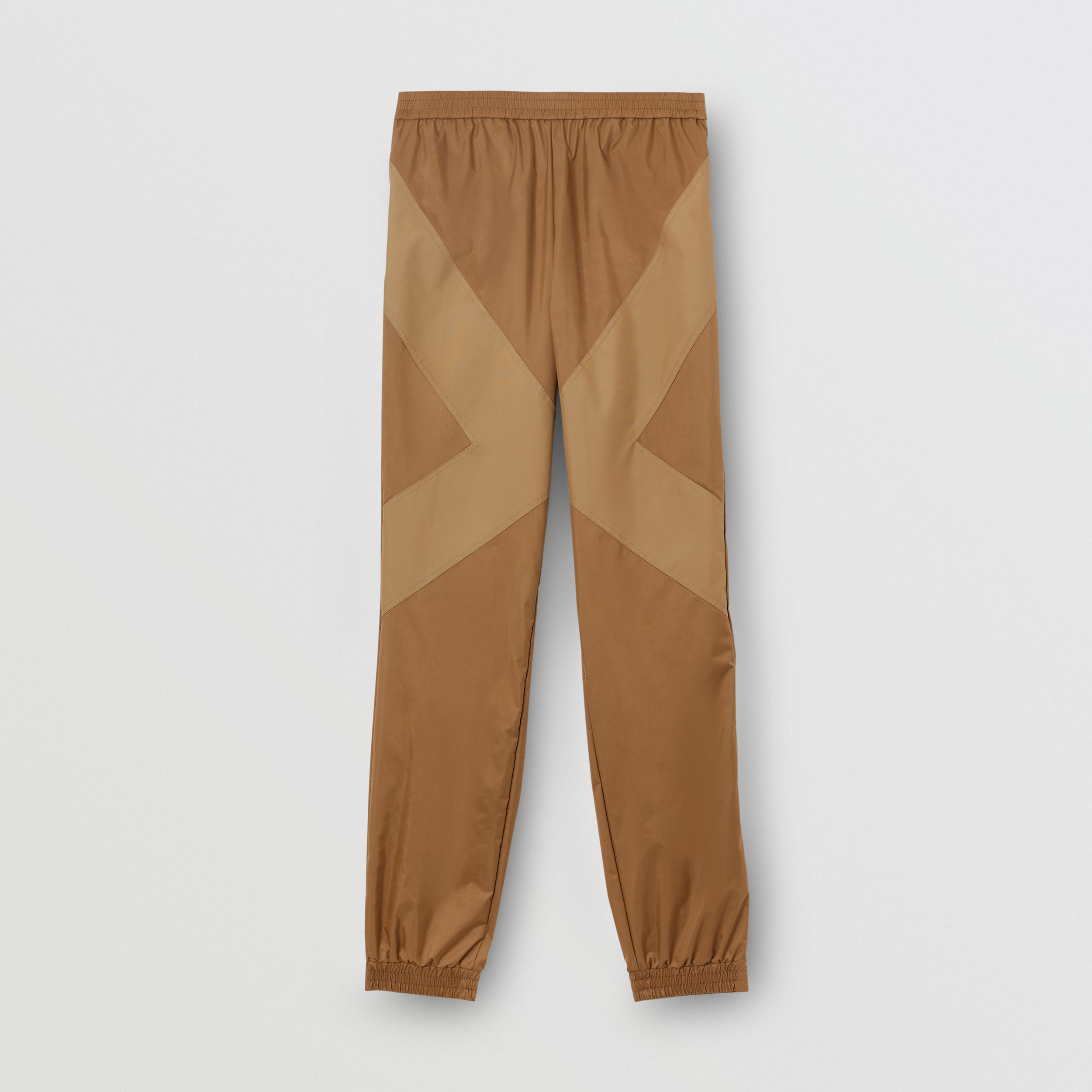 Two-tone Nylon Trackpants in Warm Walnut - Men | Burberry - 4