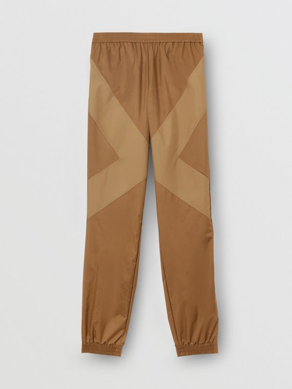 Two-tone Nylon Trackpants in Warm Walnut