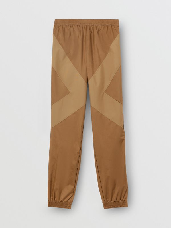 Two-tone Nylon Trackpants in Warm Walnut - Men | Burberry United States - cell image 3