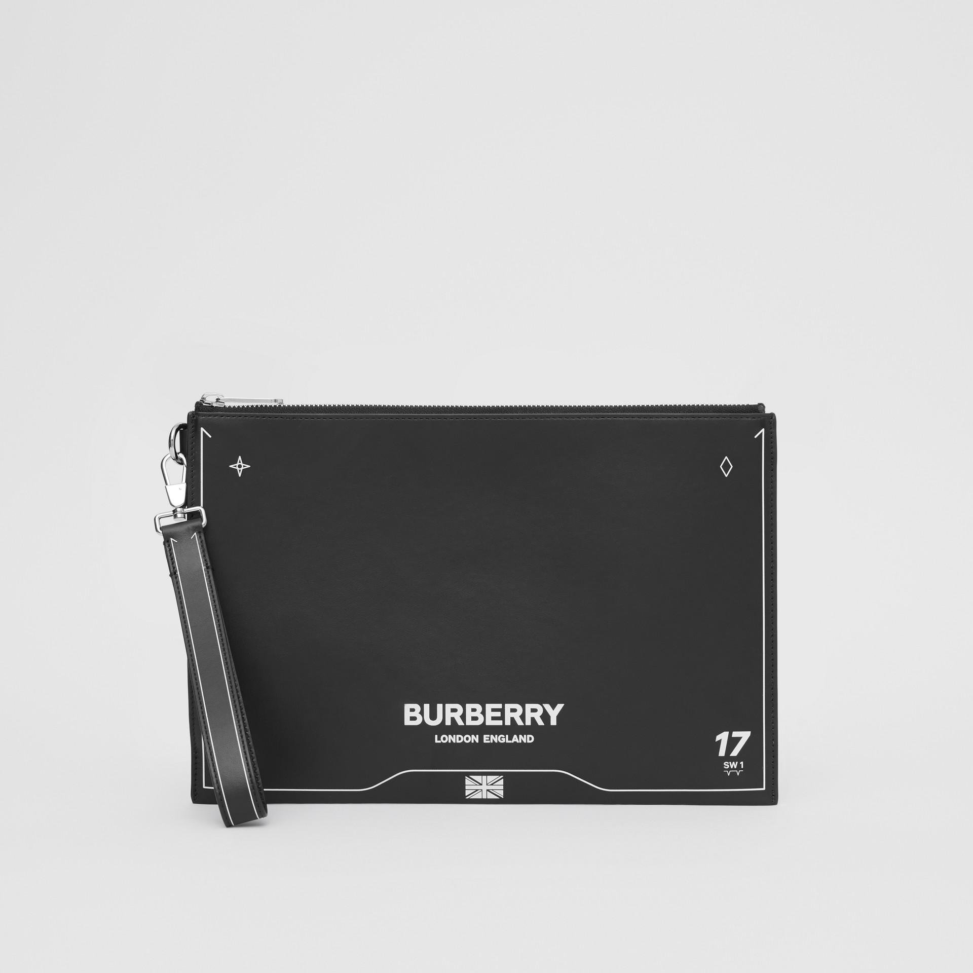 シンボルプリント レザー ジップポーチ (ブラック) | バーバリー - ギャラリーイメージ 2