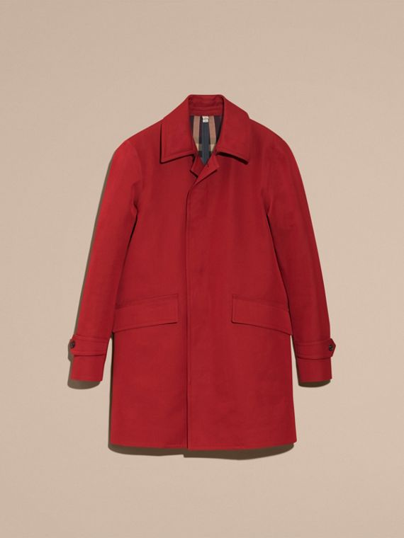 Showerproof Cotton Gabardine Car Coat Military Red - cell image 3