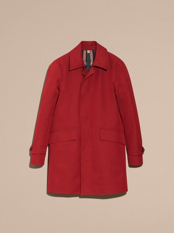 Rouge militaire Paletot imperméable en gabardine de coton Rouge Militaire - cell image 3