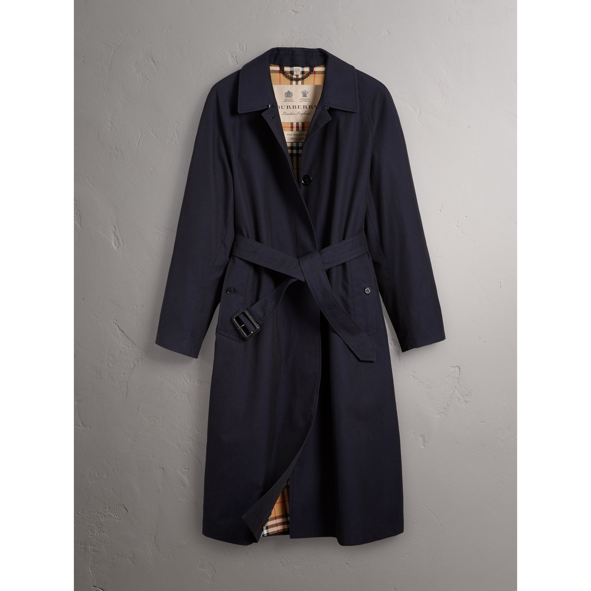 The Brighton – Extra-long Car Coat in Blue Carbon - Women | Burberry Singapore - gallery image 4