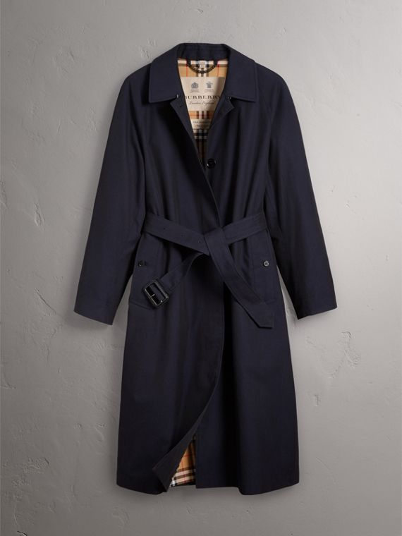 The Brighton – Extra-long Car Coat in Blue Carbon - Women | Burberry Singapore - cell image 3