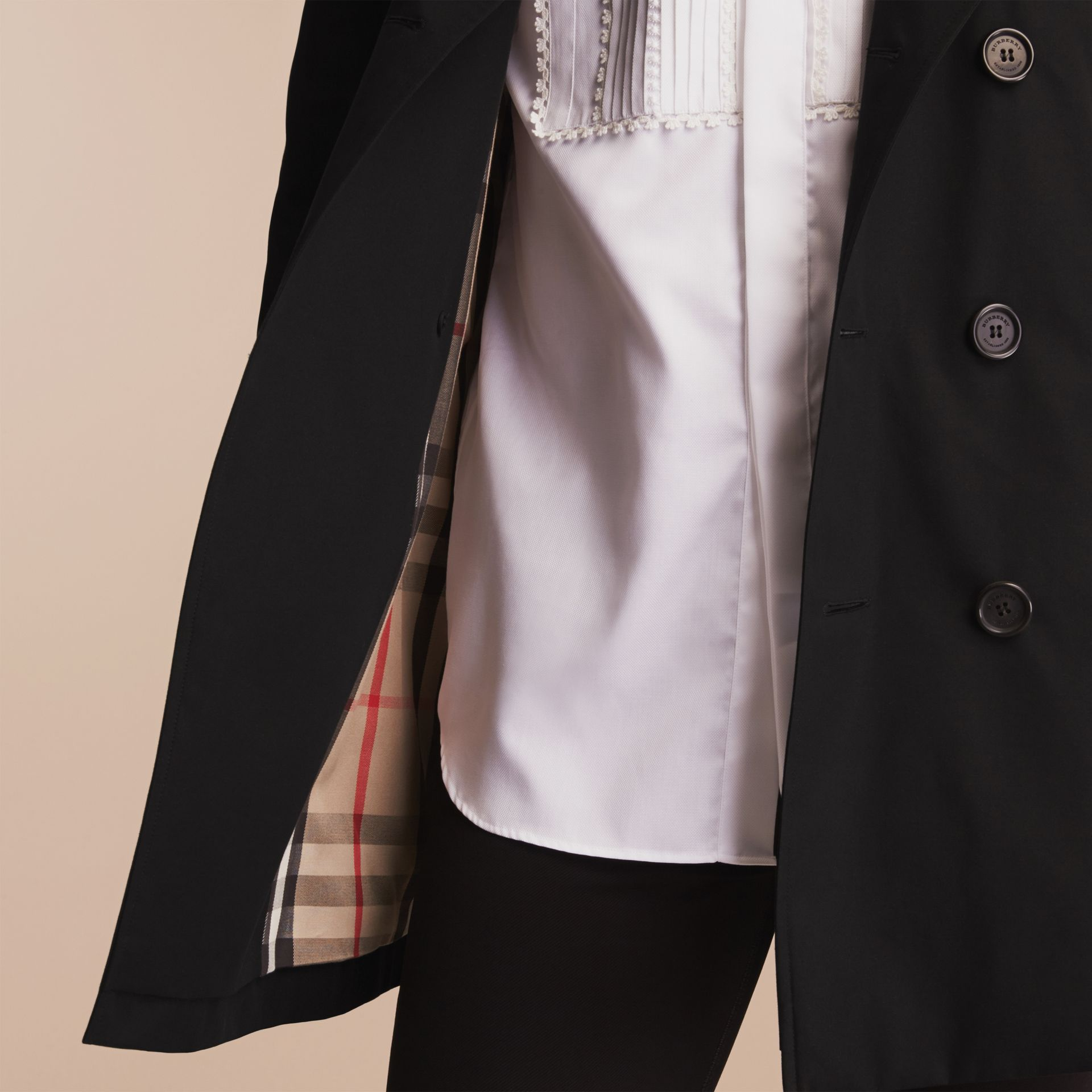 Black The Sandringham – Mid-length Heritage Trench Coat Black - gallery image 10