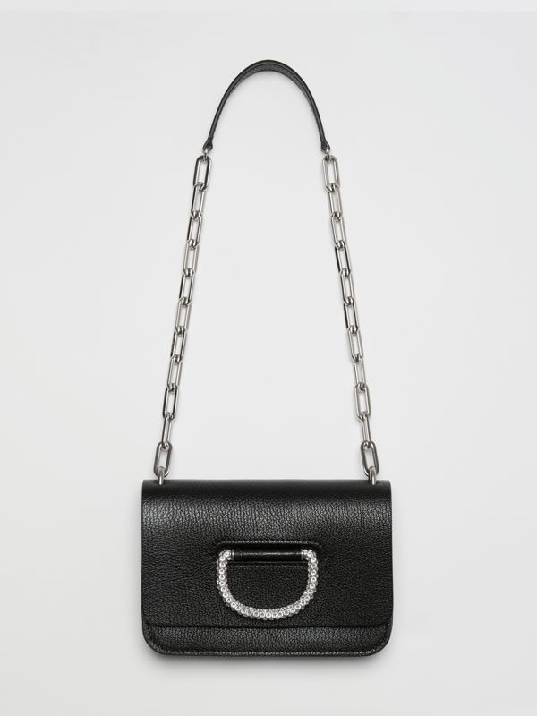 The Mini Leather Crystal D-ring Bag in Black - Women | Burberry - cell image 2