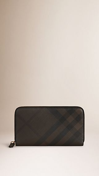 London Check Ziparound Wallet