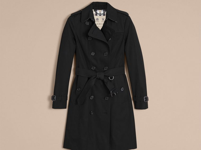 Negro Trench coat Sandringham - Trench coat Heritage largo Negro - cell image 4