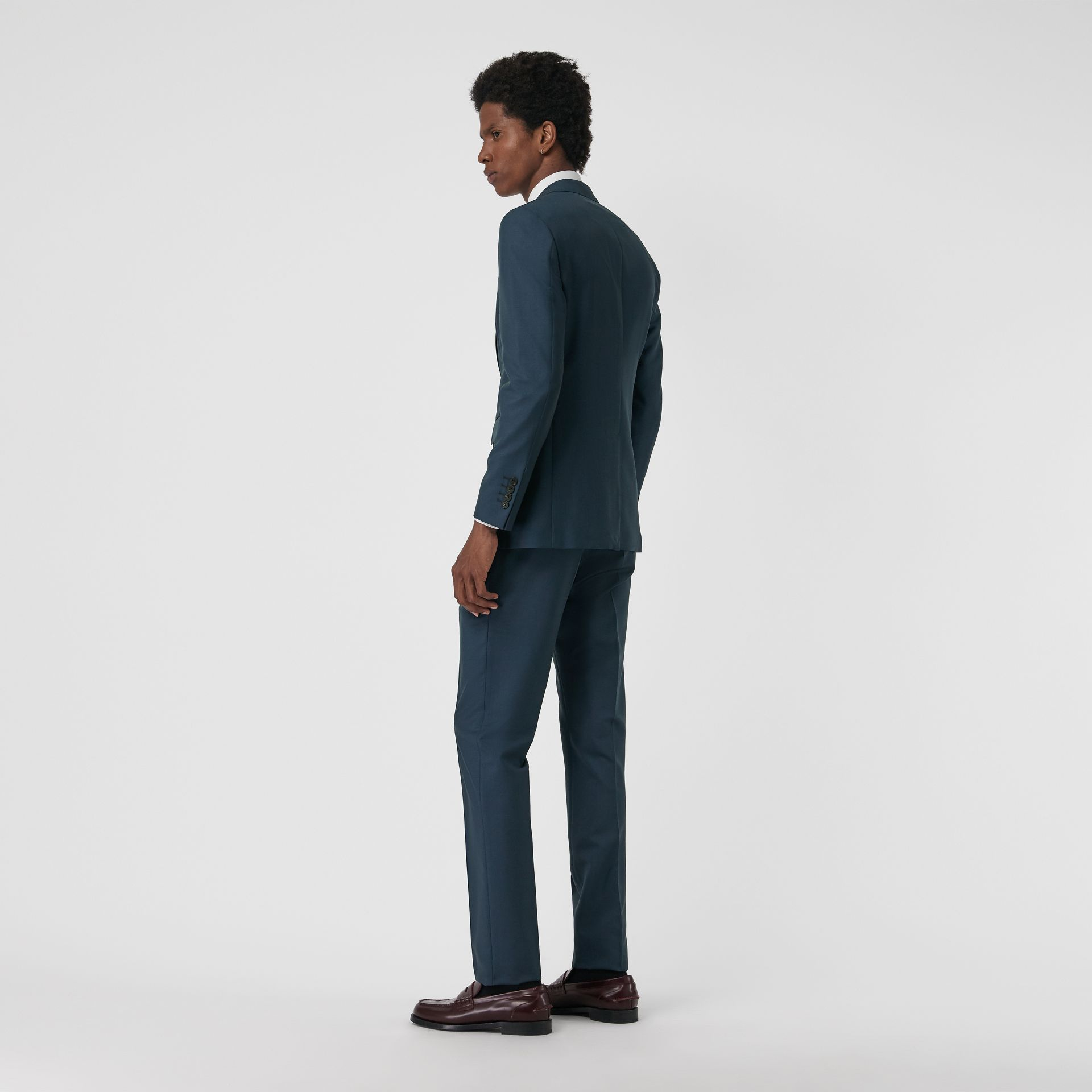 Soho Fit Wool Mohair Suit in Dark Pewter Blue - Men | Burberry - gallery image 2