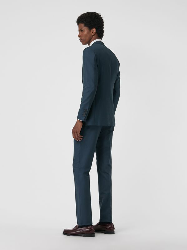 Soho Fit Wool Mohair Suit in Dark Pewter Blue - Men | Burberry - cell image 2