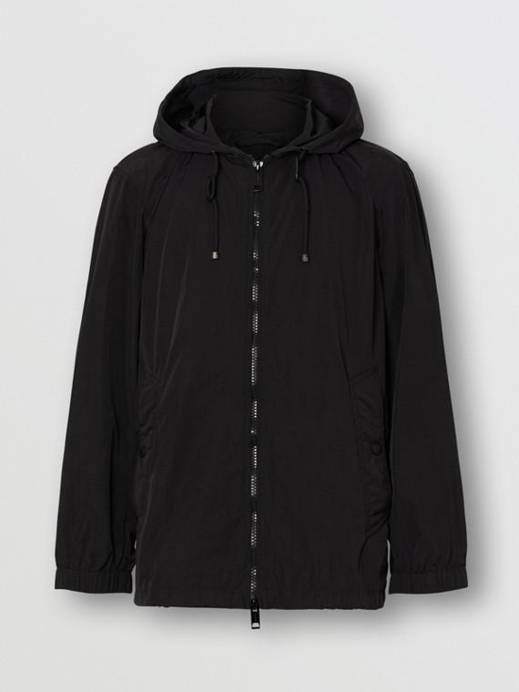 Компактная легкая куртка с капюшоном (Черный)