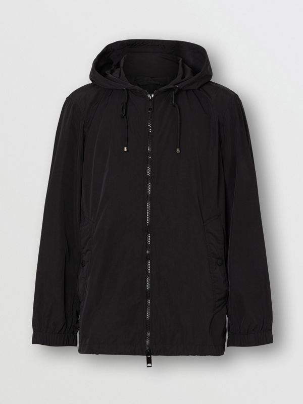Packaway Lightweight Hooded Jacket in Black - Men | Burberry Canada - cell image 3
