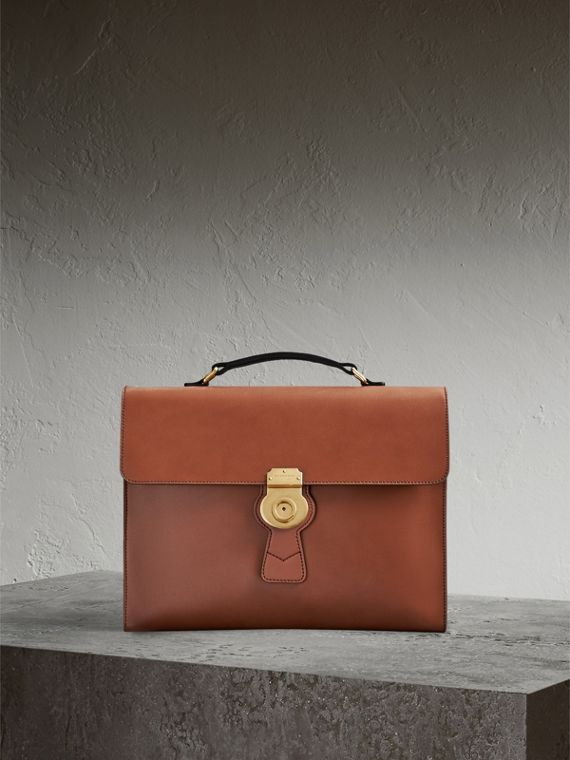 The Large DK88 Document Case in Tan - Men | Burberry