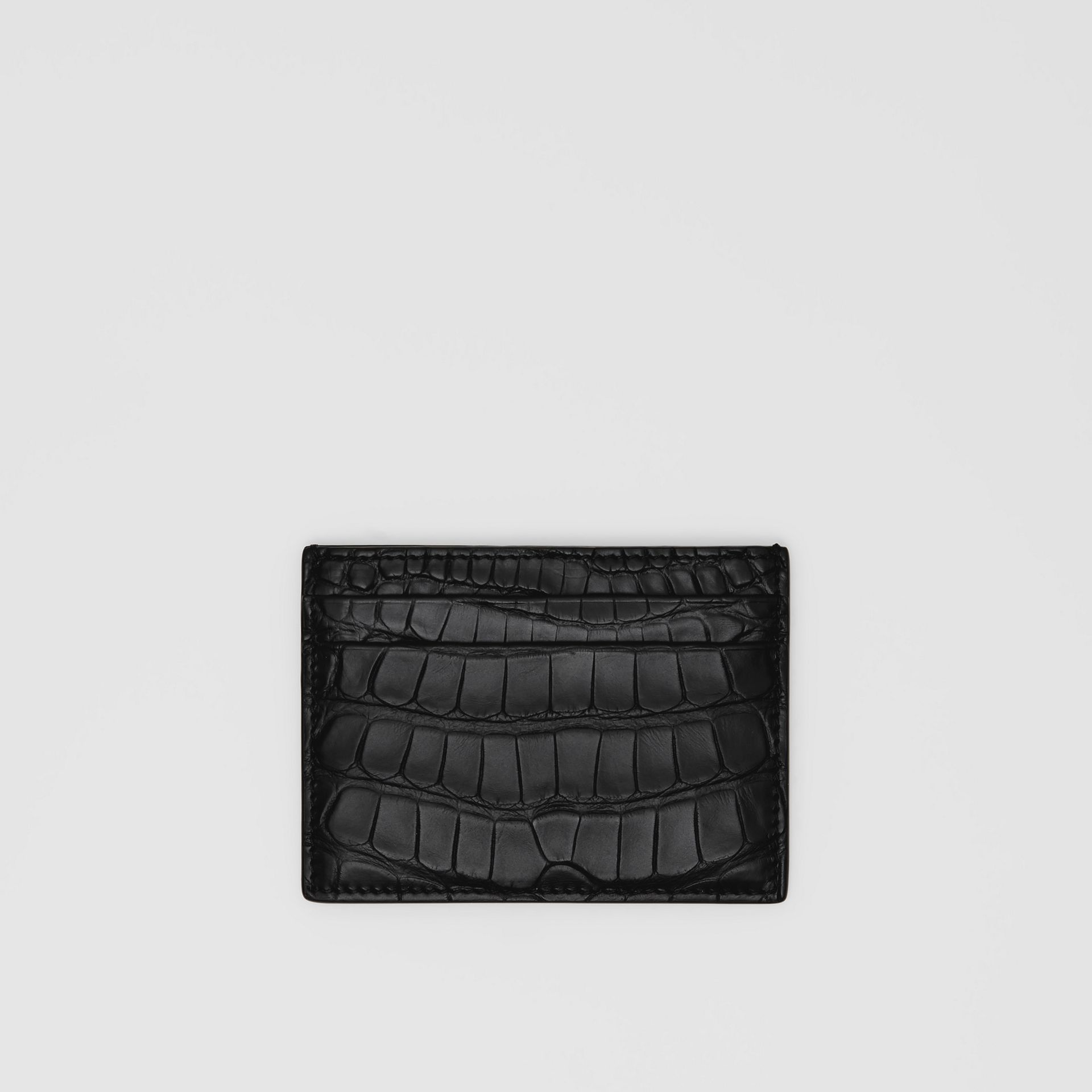 Porte-cartes en alligator (Noir) - Homme | Burberry Canada - photo de la galerie 0