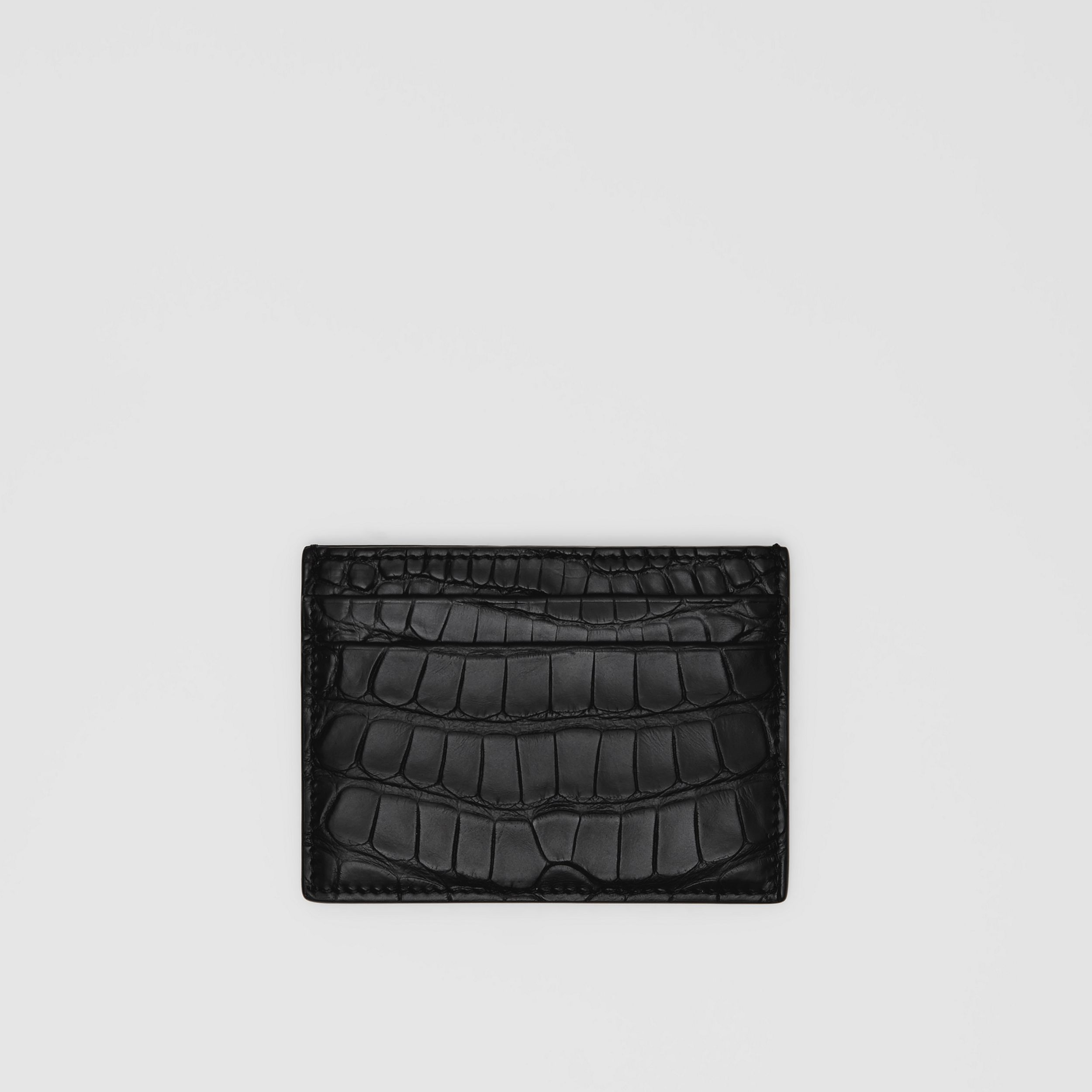 Alligator Card Case in Black - Men | Burberry - 1