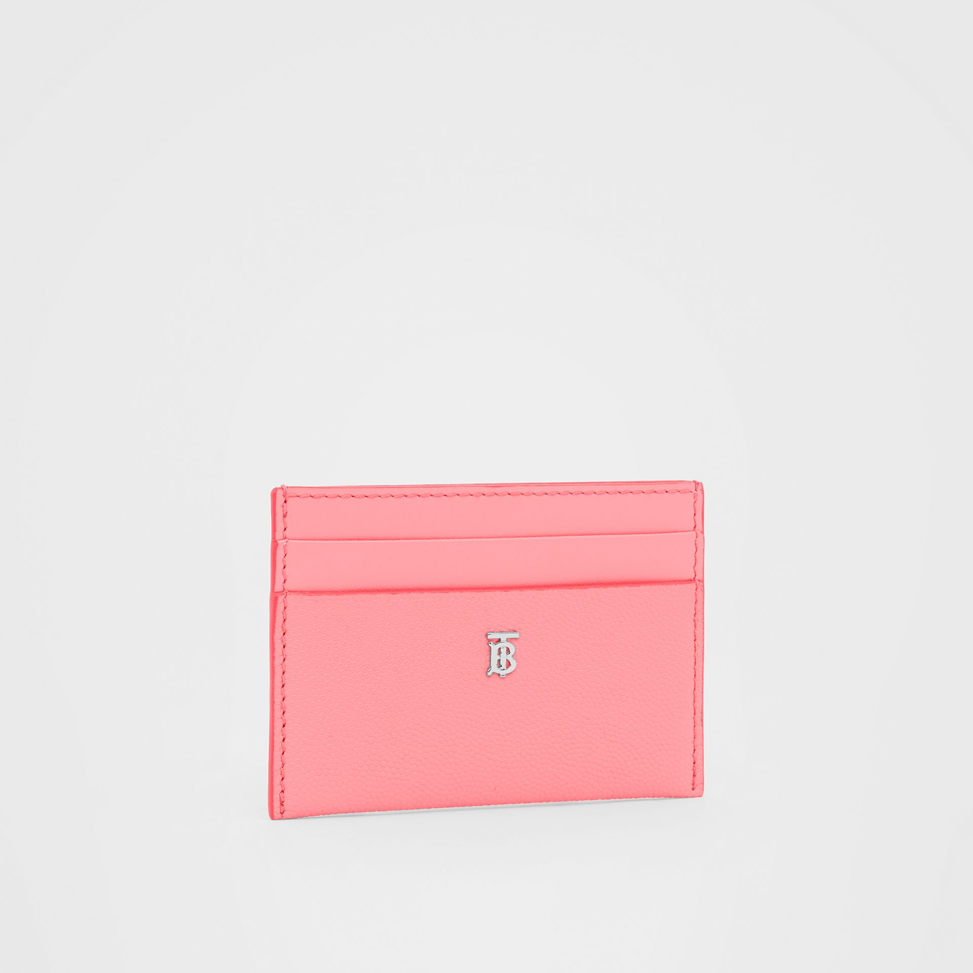 Monogram Motif Leather Card Case in Candy Floss/palladio - Women | Burberry Hong Kong S.A.R - gallery image 3