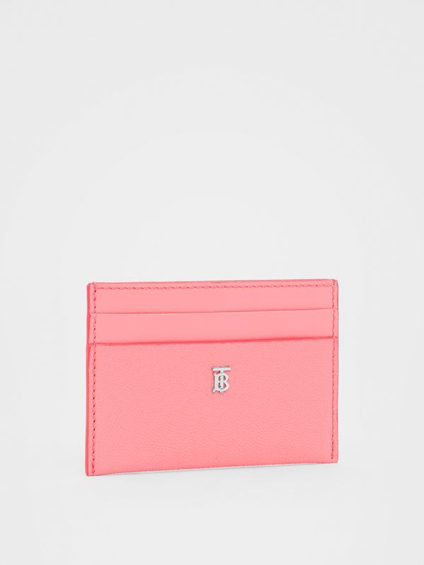 Monogram Motif Leather Card Case in Candy Floss/palladio - Women | Burberry Hong Kong S.A.R - cell image 3