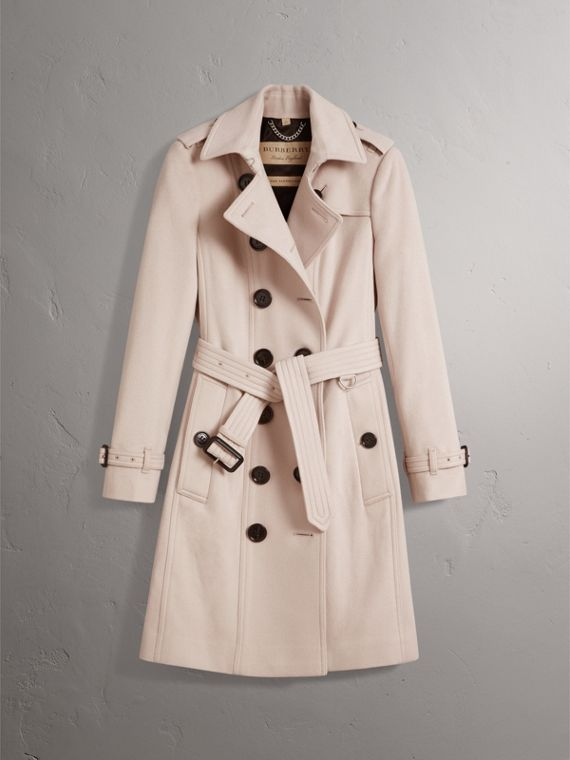 Sandringham Fit Cashmere Trench Coat in Pale Nude - Women | Burberry Australia - cell image 3