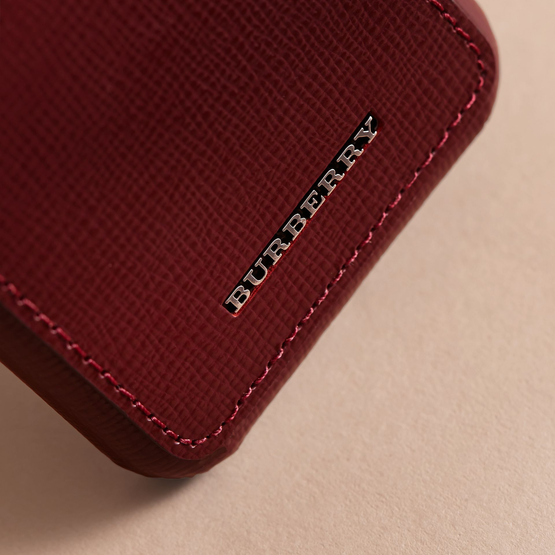 Grainy Leather iPhone 7 Case Burgundy Red - gallery image 2