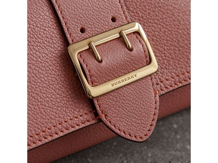 Textured Leather Continental Wallet in Dusty Pink - Women | Burberry United Kingdom - cell image 1