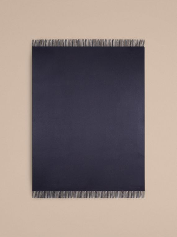 Cashmere Blanket in Navy | Burberry Canada - cell image 2