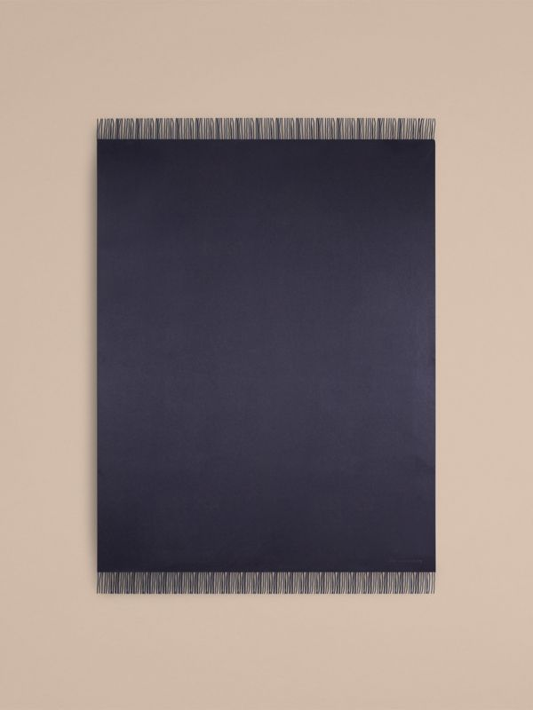 Cashmere Blanket in Navy | Burberry - cell image 2