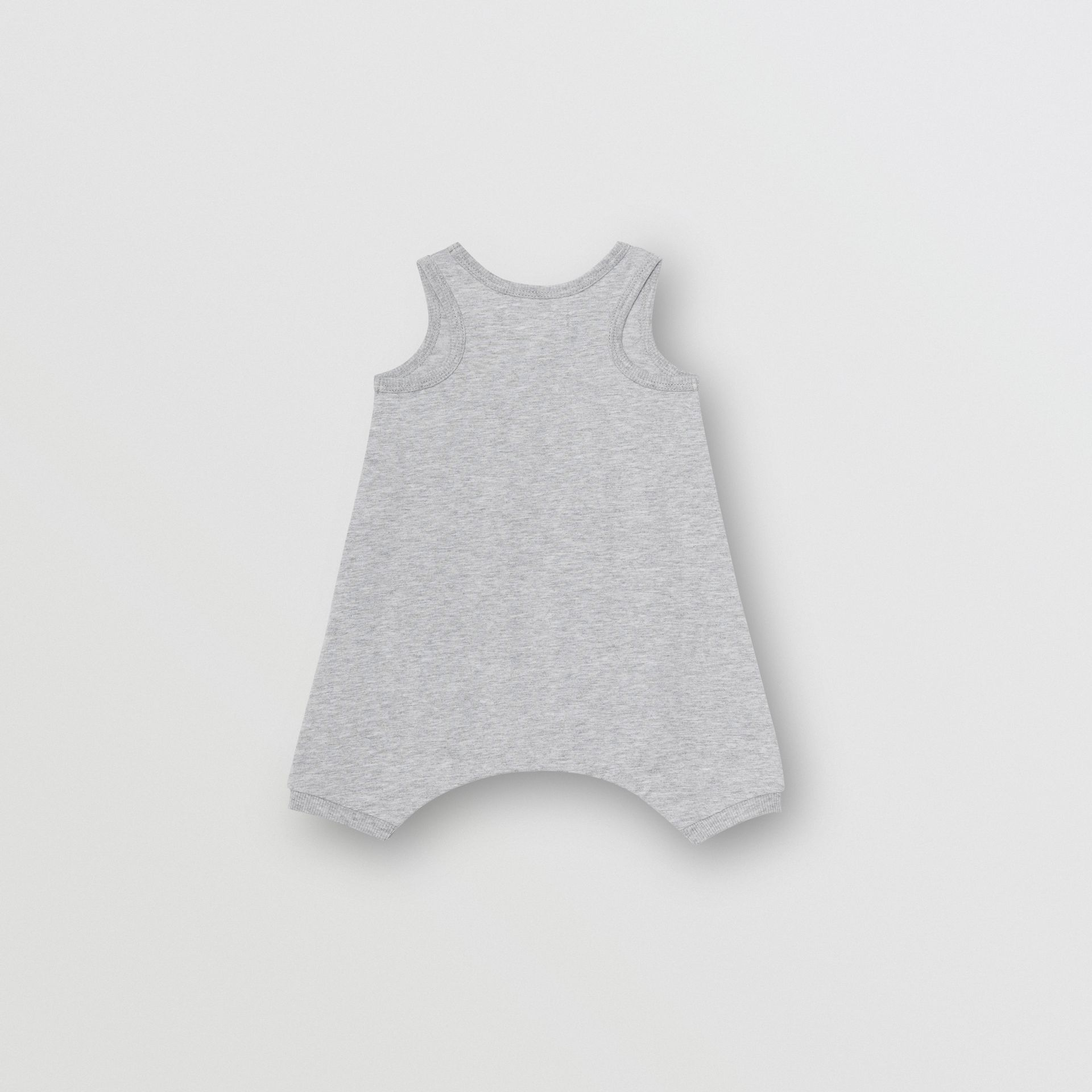 Logo Print Cotton Three-piece Baby Gift Set in Grey - Children | Burberry United Kingdom - gallery image 3