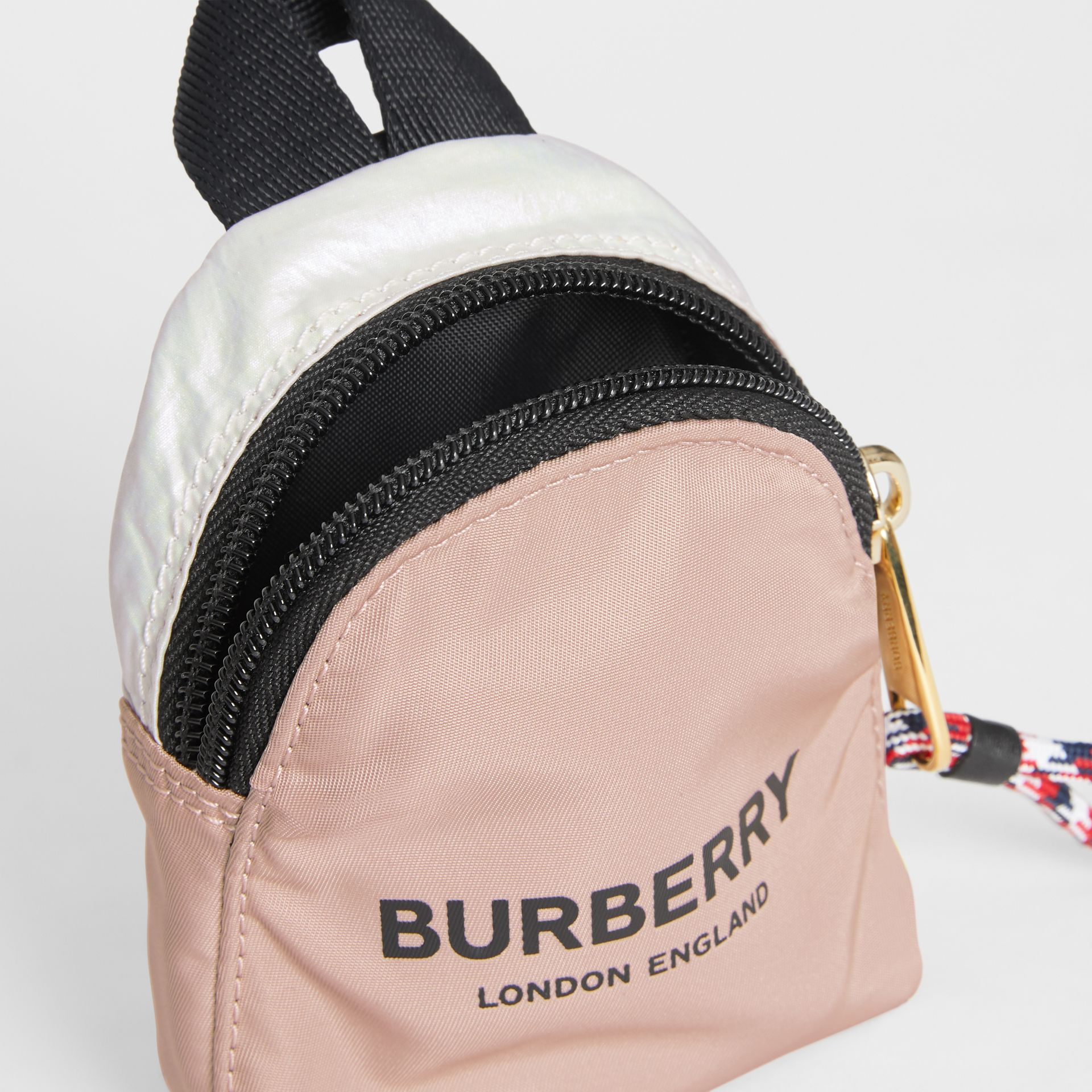 Logo Print Two-Tone Coin Case in Pearl - Children | Burberry - gallery image 3