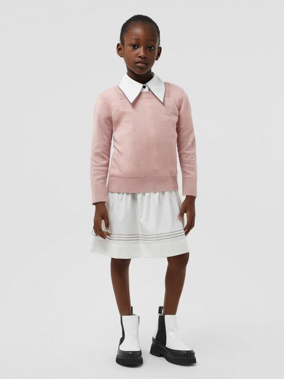 모노그램 모티프 캐시미어 스웨터 (라벤더 핑크)