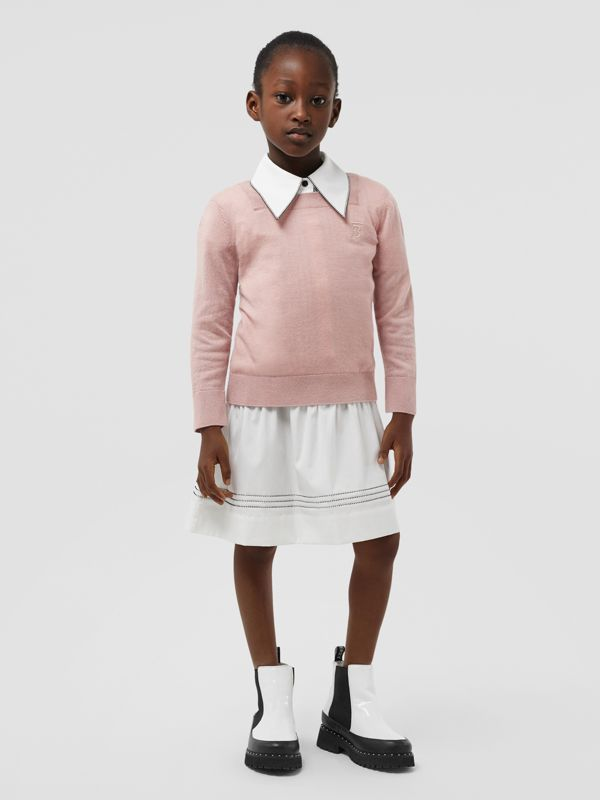 Monogram Motif Cashmere Sweater in Lavender Pink | Burberry - cell image 2