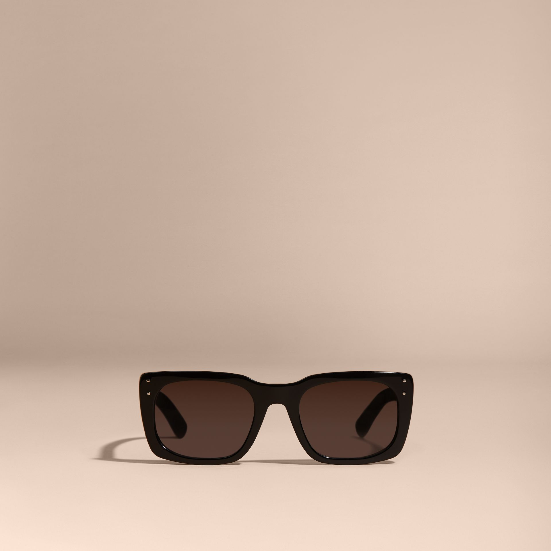 Black Square Frame Sunglasses Black - gallery image 5
