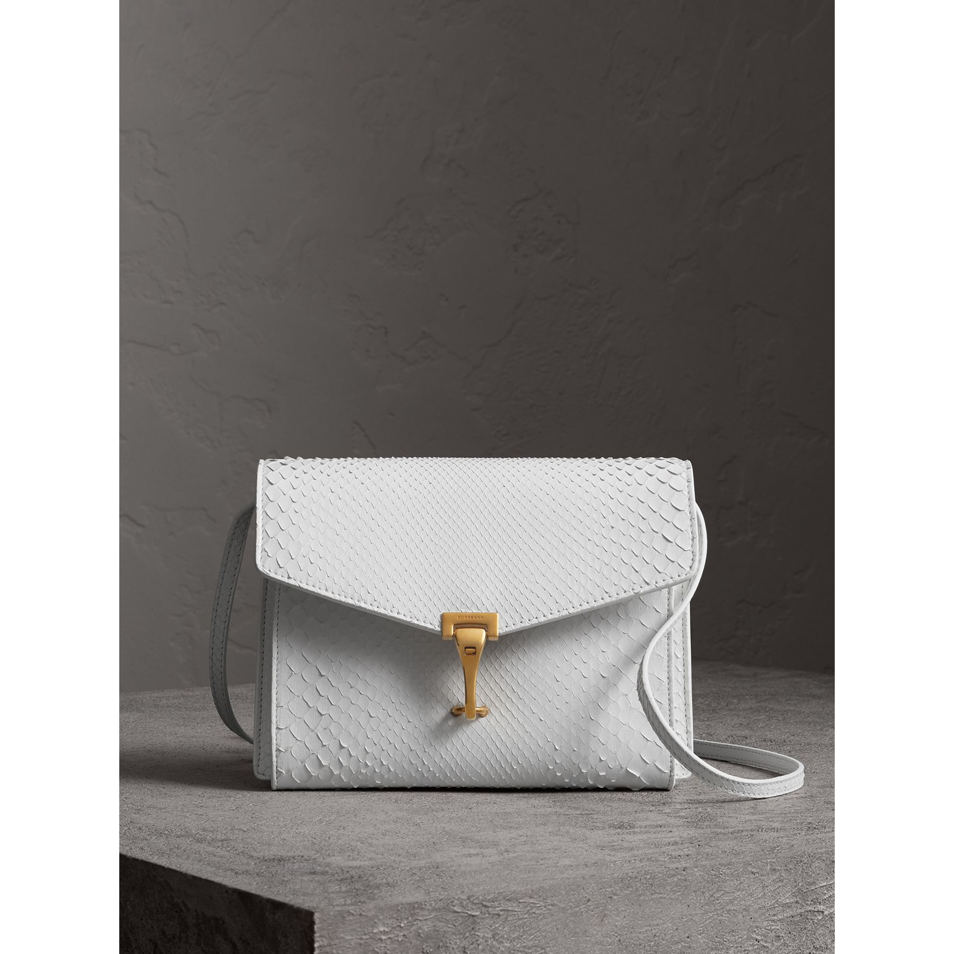 Small Python Crossbody Bag in Chalk White - Women | Burberry - gallery image 1