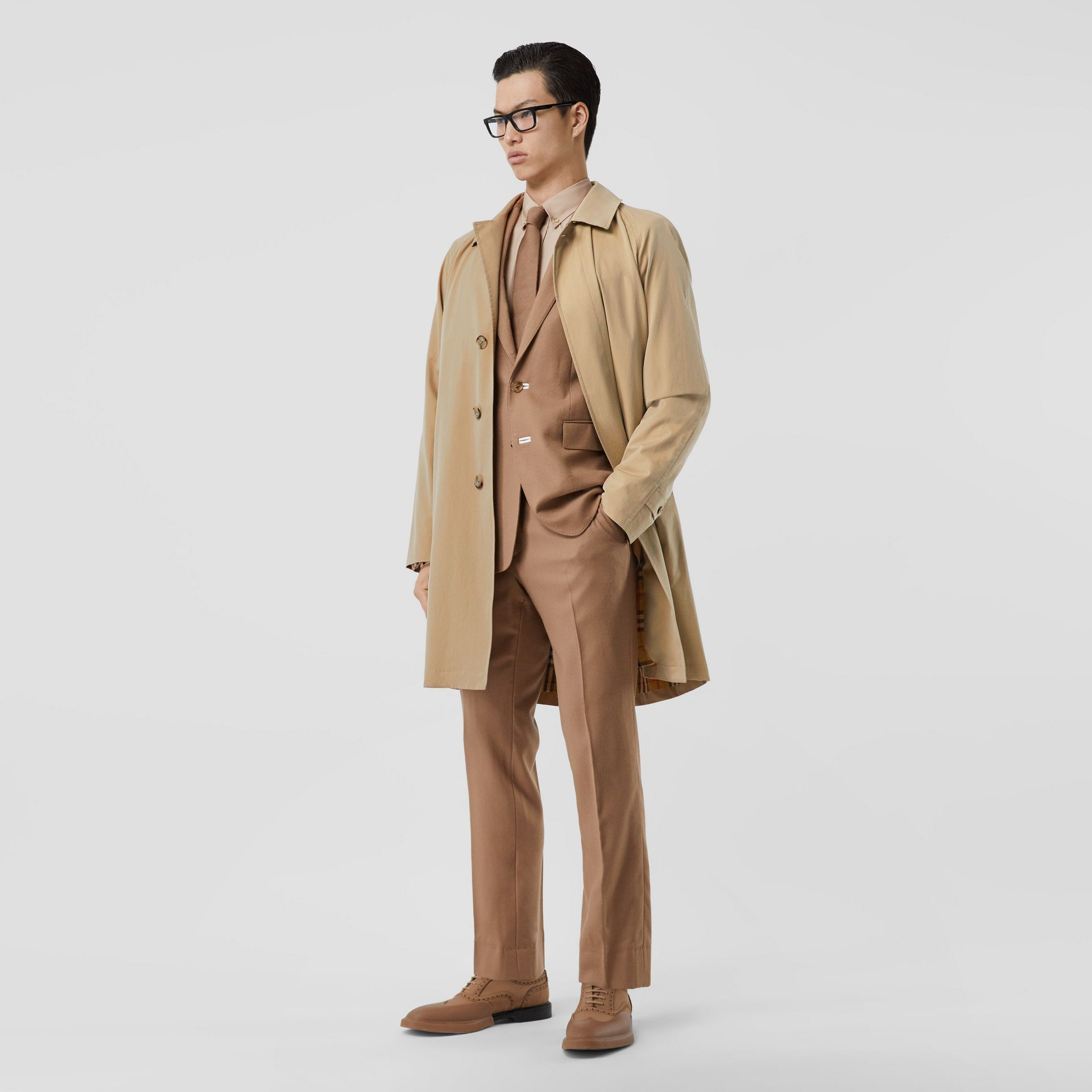 The Camden Car Coat in Honey - Men | Burberry Hong Kong S.A.R - gallery image 5