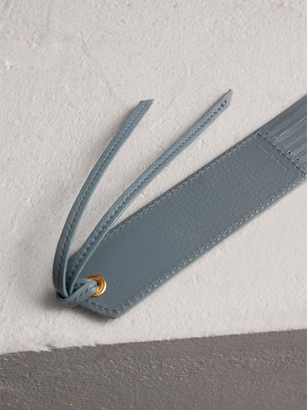 Embossed Leather Bookmark in Dusty Teal Blue | Burberry Singapore - cell image 2