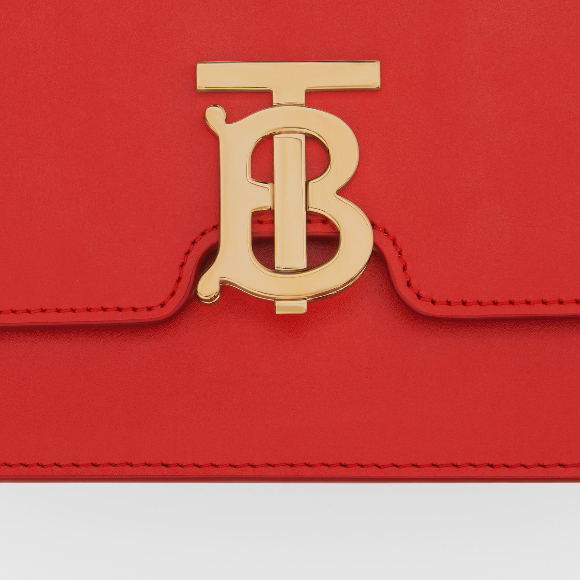 Small Leather TB Bag in Bright Red - Women | Burberry United Kingdom - gallery image 1