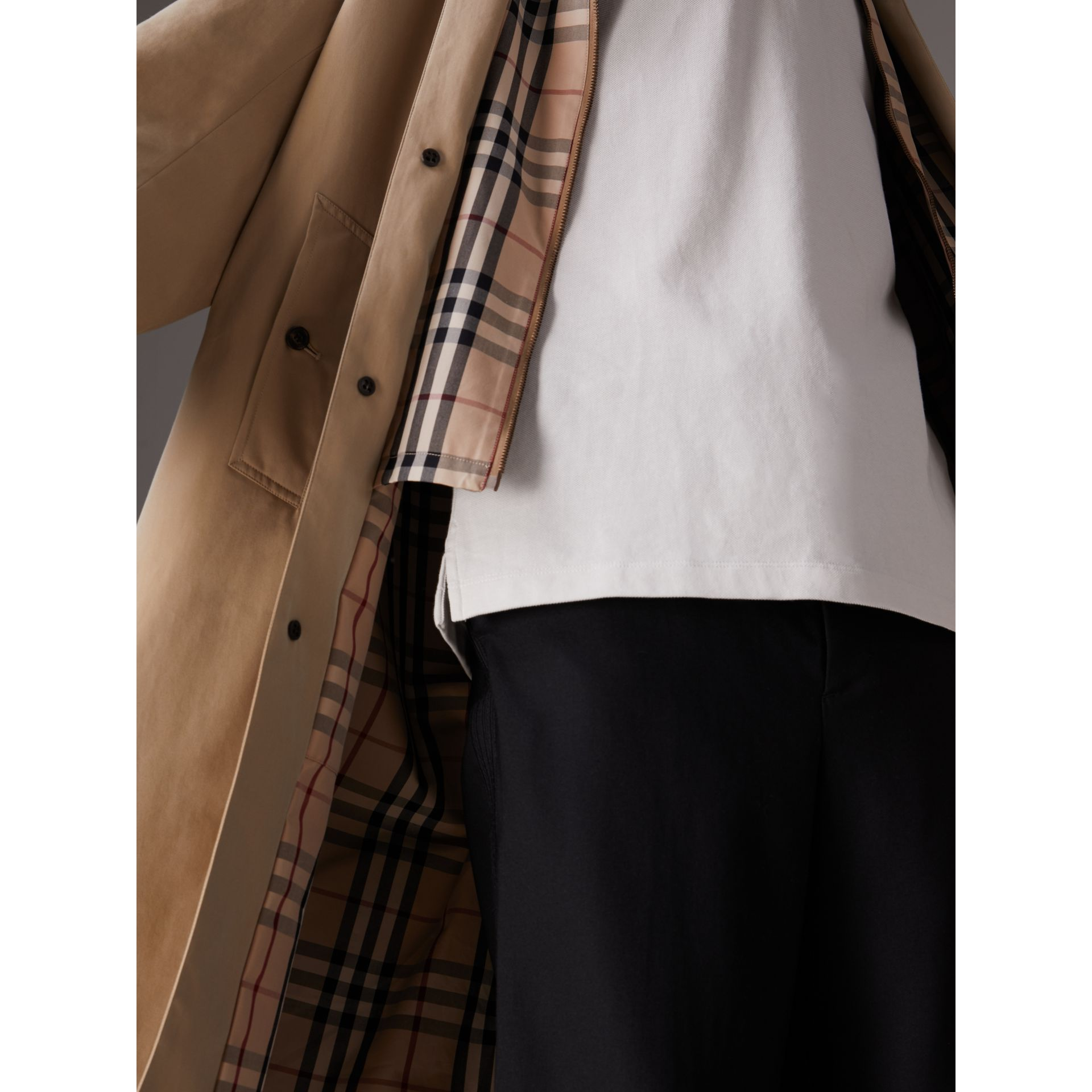 Gosha x Burberry Reconstructed Car Coat in Honey | Burberry Australia - gallery image 1