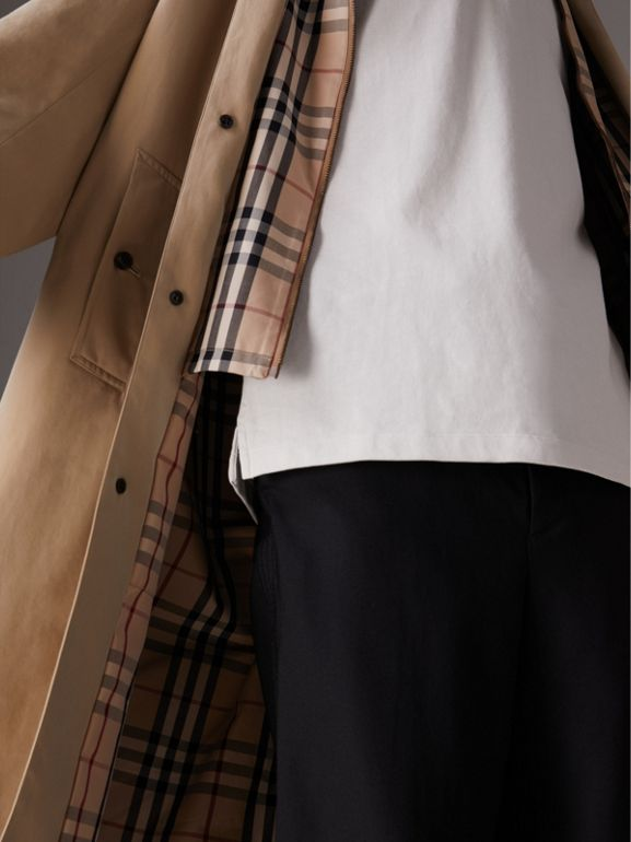 Gosha x Burberry Reconstructed Car Coat in Honey - Men | Burberry United States - cell image 1