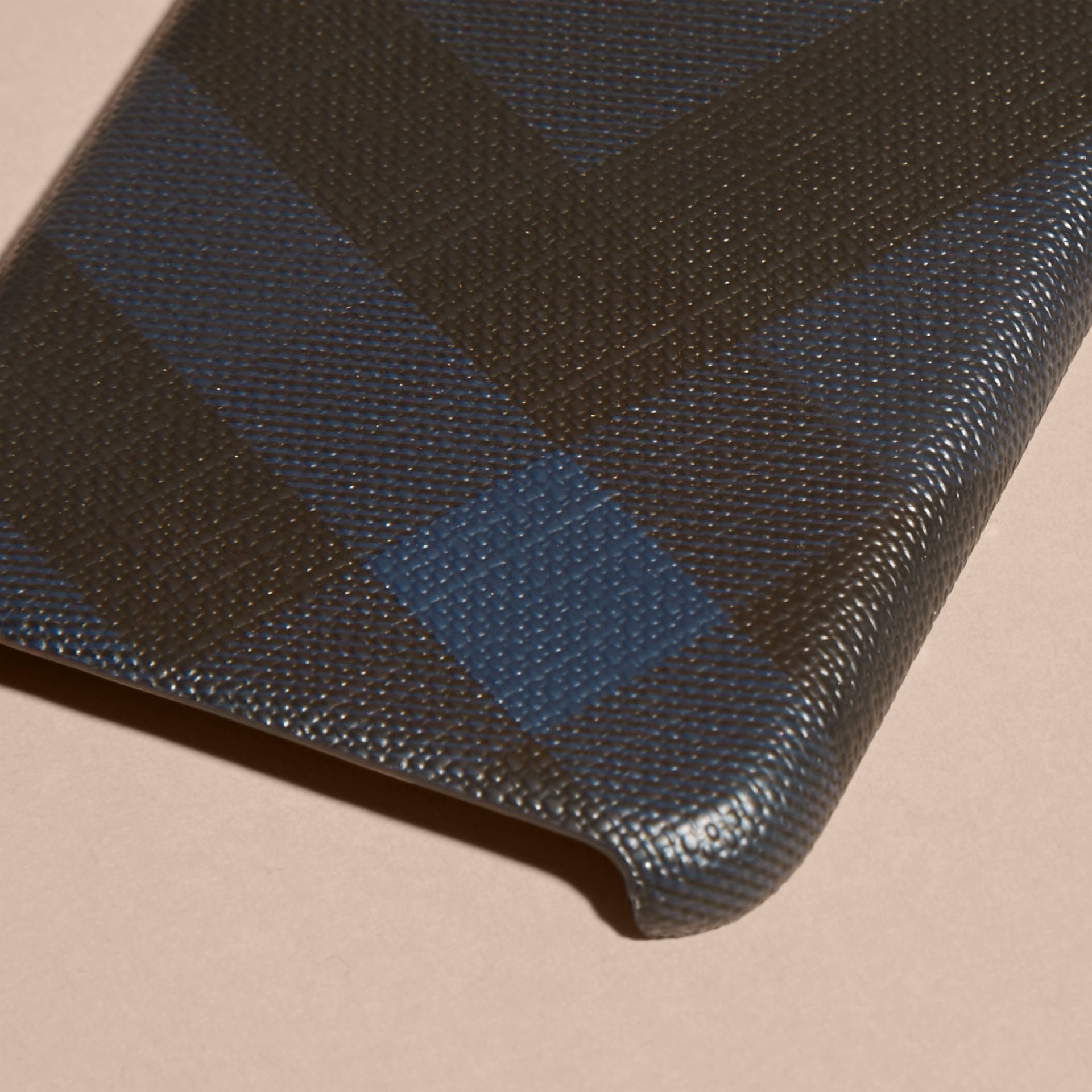 London Check iPhone 7 Case in Navy/black | Burberry United Kingdom - gallery image 2