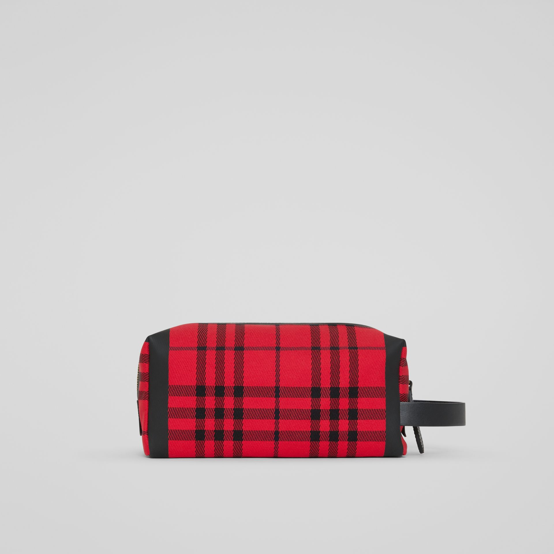 Tartan Cotton Pouch in Military Red | Burberry - gallery image 7