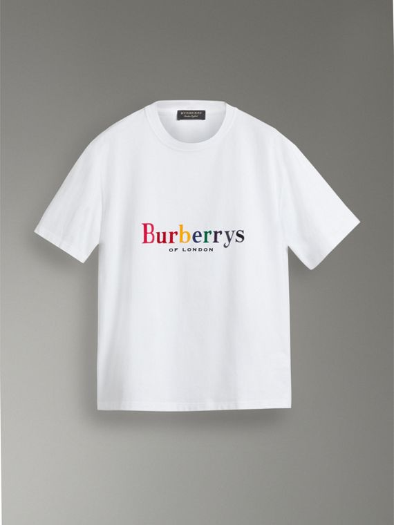 Reissued Cotton T-shirt in White - Men | Burberry Australia - cell image 3